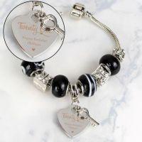 Personalised 18th or 21st Birthday Key Charm Bracelet