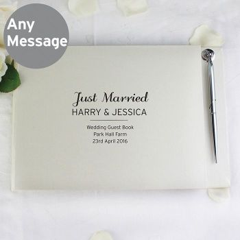 Personalised Classic Guest Book and Pen