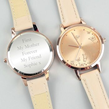 Personalised Rose Gold Ladies Watch (any message)