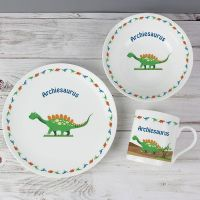 Personalised Dinosaur Breakfast Set