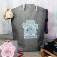 Personalised Paw Print Storage Bag