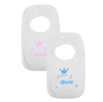 Personalised Princess or Prince Bib