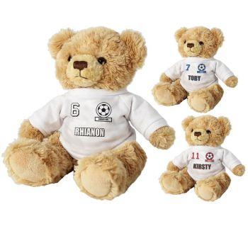 Personalised Football Fan T-Shirt Message Bear