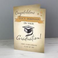 Personalised Gold Star Graduation Card