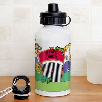 Personalised Back to School Drinks Bottle - Zoo