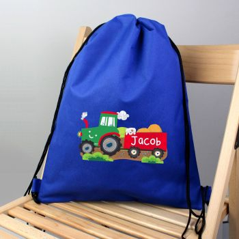 Personalised Back to School Swim Bag - Tractor