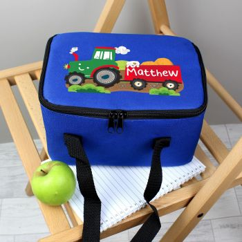 Personalised School Lunch Bag - Tractor