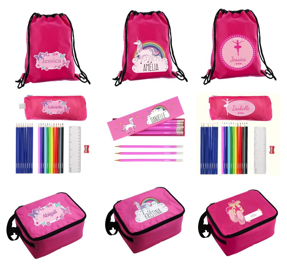 Personalised Girls back to school products
