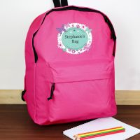 Personalised Girls Backpack - Butterfly