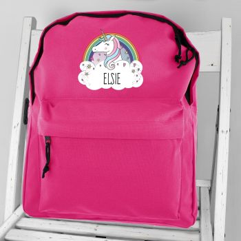 Personalised Girls Backpack - Unicorn