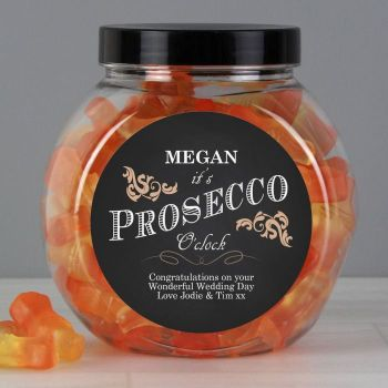Personalised It's Prosecco O'Clock Prosecco Gummies Jar