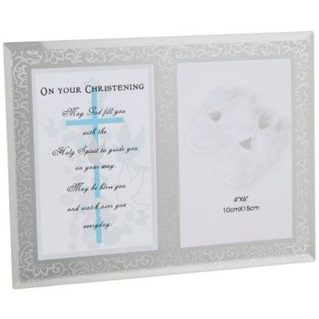 Christening Day Verse and Frame - Boy
