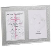 Christening Day Verse and Frame - Girl