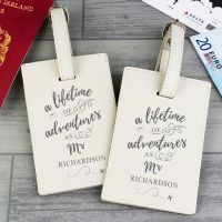 Personalised 'Lifetime of Adventures' Same Sex Couples Luggage Tags