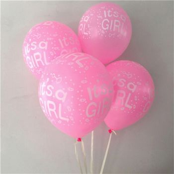 "It's A Girl Pink 12"" Latex Balloons"