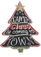 Large Chalkboard Christmas Tree Plaque