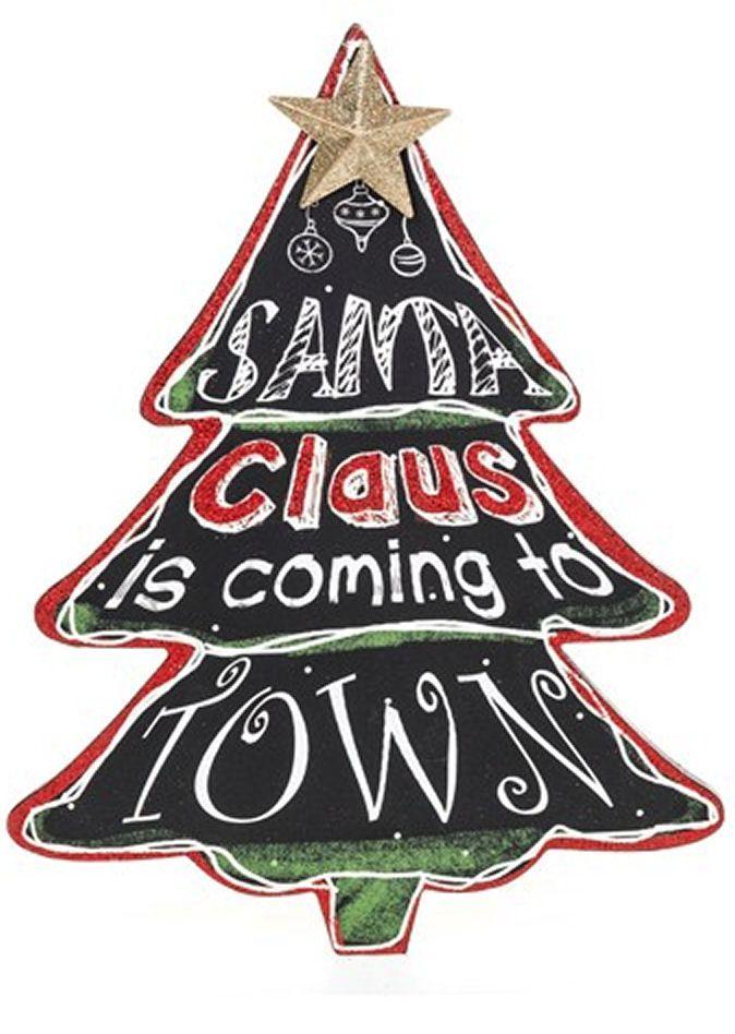Large Chalkboard Christmas Tree Plaque