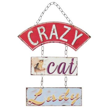 Crazy Cat Lady Hanging Plaque