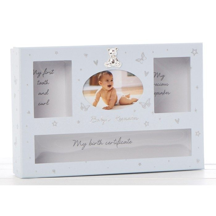 Baby Girl Keepsake Box in Blue