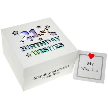 21st Birthday Trinket Keepsake Illuminated Box