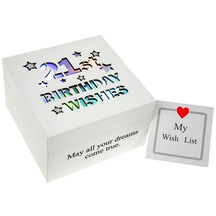 21st Birthday Trinket Keepsake Illuminated Box
