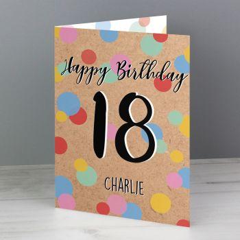 Personalised 18th Birthday Card