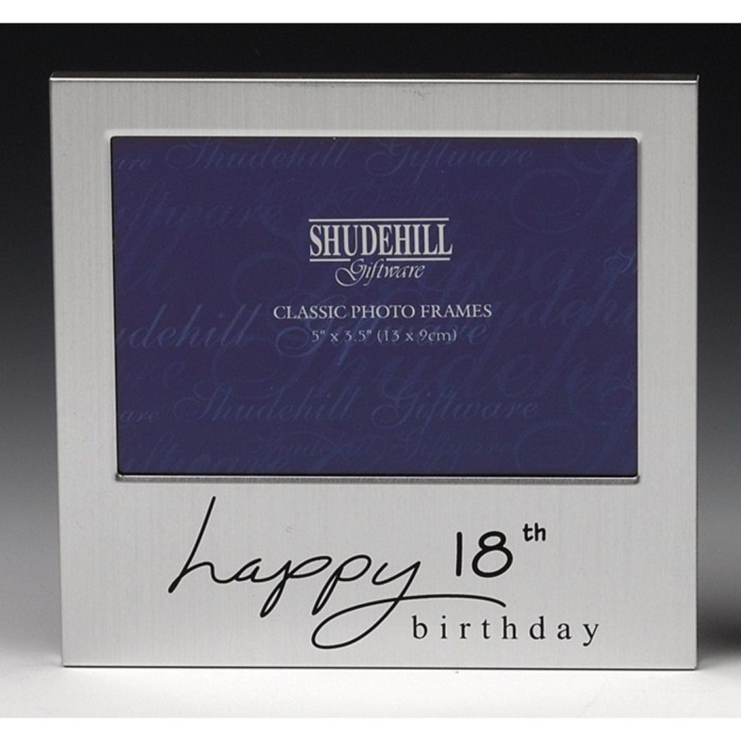 18th Birthday Silver Photo Frame