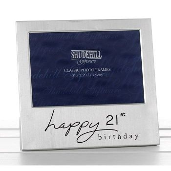 21st Birthday Silver Photo Frame