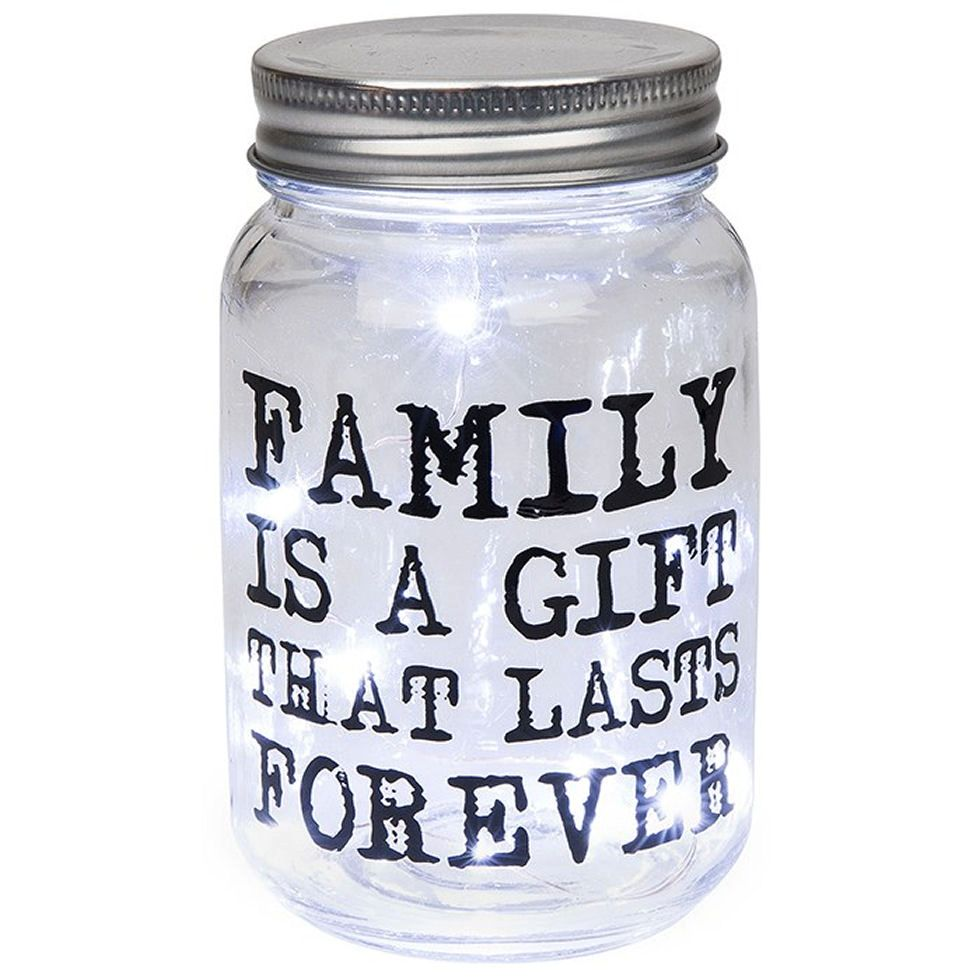 Firefly Mason Jar with Family Quote