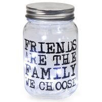 Firefly Mason Jar with Friends Quote