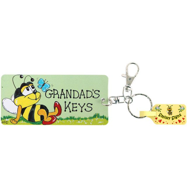 Grandads Keys Keyring from Smiley Signs