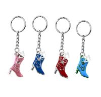 21st Birthday Charm Cowgirl Boot Keyring