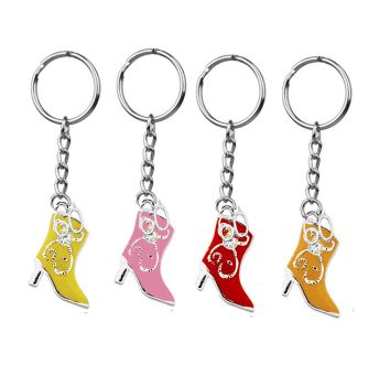 60th Birthday Charm Cowgirl Boot Keyring