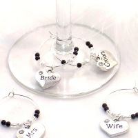 Top Table Wedding Wine Glass Charms Set