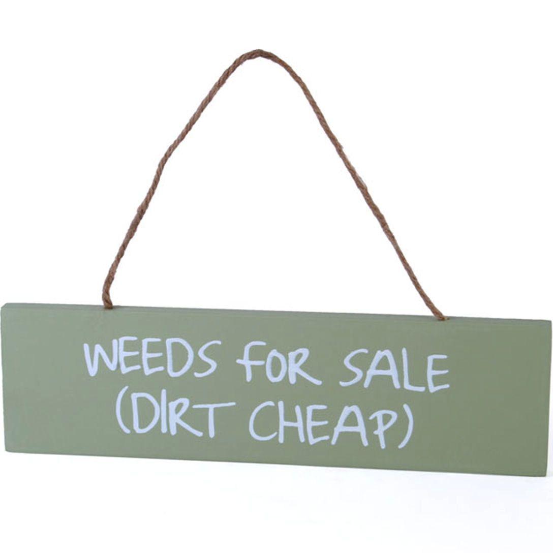 Garden Weeds for Sale Hanging garden wall plaque