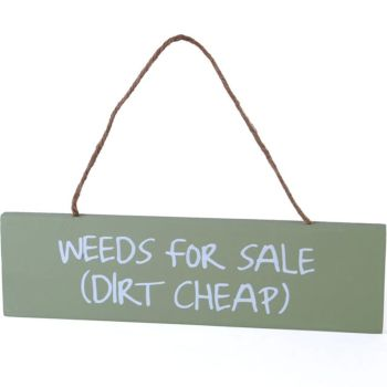 Garden Weeds for Sale Hanging garden wall plaque