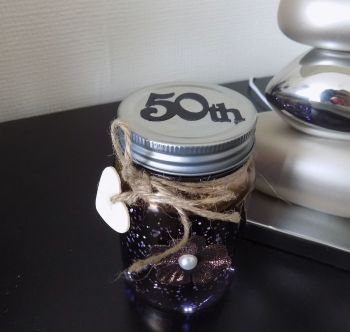 50th Firefly Mason Jar - Gold