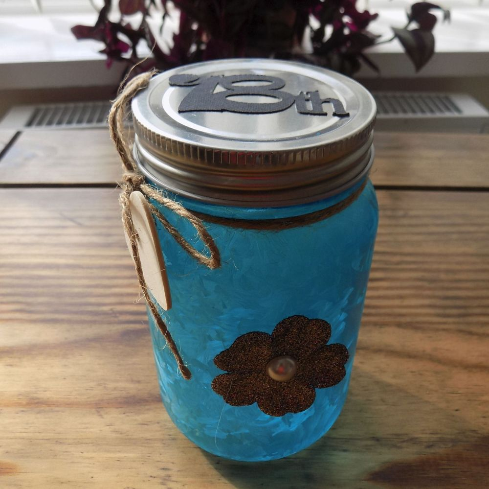 18th Firefly Mason Jar - Blue