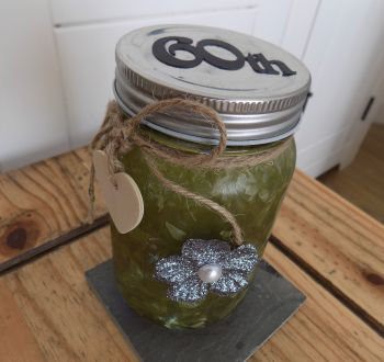 60th Firefly Mason Jar - Green
