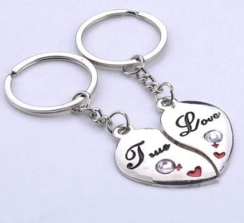 True Love Silver Metal Keyrings