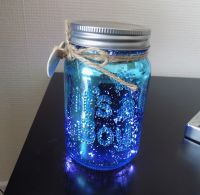 It's a Boy Baby Firefly Mason Jar in Blue