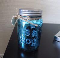 It's a Boy Baby Firefly Mason Jar in Blue