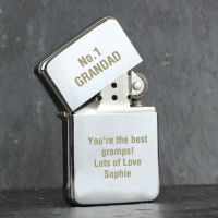 Personalised Silver Lighter for him (any message)