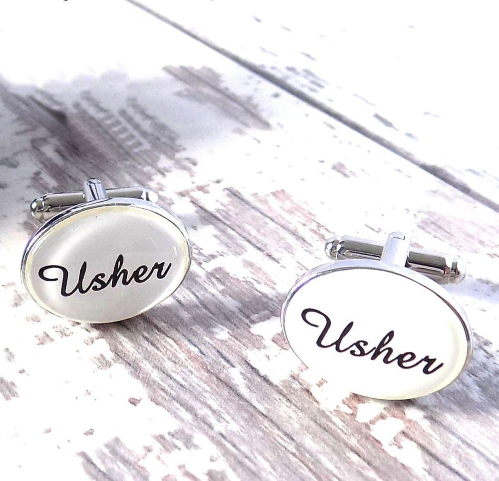 Usher Wedding Cufflinks