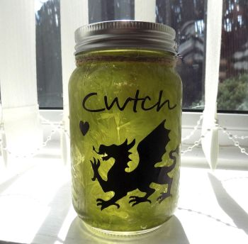 Welsh Cwtch Firefly Mason Jar