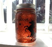 Unicorn Firefly Mason Jar