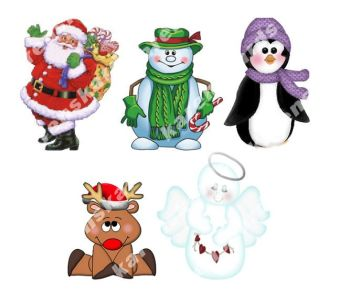 Christmas Character Card Toppers
