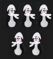 Christmas Black and White Penguin Card Toppers
