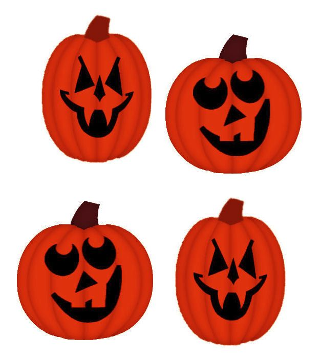 Halloween Pumpkin card toppers