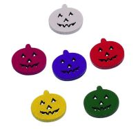 Wooden Mini Pumpkin Embellishments x 6